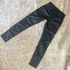 Rock & Republic Faux Leather Skinny Jeans